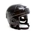 Black Ice Hockey Helmet Isolated on White Royalty Free Stock Photo