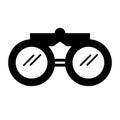 Black icon binoculars cartoon Royalty Free Stock Photo