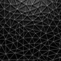 Black industrial metallic triangles pattern background