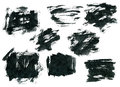 Black ink rectangle shapes isolated on white