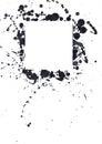 Black ink spots Royalty Free Stock Photo