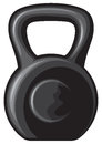 Black iron kettlebell weight training weight kilogram Stock Photos