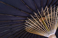 Black Japanese umbrella Royalty Free Stock Photo