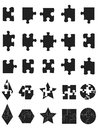 Black jigsaw Puzzle Pieces icon Royalty Free Stock Photos