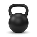 Black kettle bell Royalty Free Stock Photo