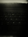 Black keyboard assus blured and Stock Photography