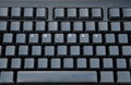 Black keyboard with friday keys another empty Stock Photography