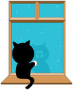 Black kitty series Royalty Free Stock Photo