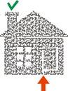 Black labyrinth house Royalty Free Stock Photo