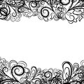 Black lace border Royalty Free Stock Images