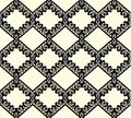 Black lace seamless pattern on white background vector Royalty Free Stock Photo