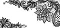 Black lace vector design. Royalty Free Stock Photo