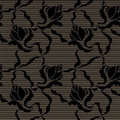 Black lace vector fabric seamless pattern Royalty Free Stock Images