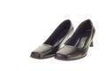 Black lady shoe isolated on white backgroud Stock Photos