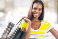 Black lady shopping pretty in mall Royalty Free Stock Photos