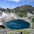 Black Lake of Murundzhu Stock Photography