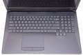 Black laptop close image of a keyboard and touchpad Stock Photos