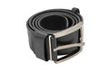 Black leather belt on the white background Royalty Free Stock Photos
