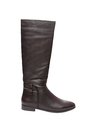 Black leather boot with zipper Royalty Free Stock Photo