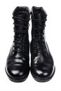 Black Leather Boots Royalty Free Stock Photography