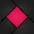 Black leather corners on pink panels around a border background Royalty Free Stock Photography