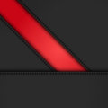 Black leather diagonal panels background on red a Stock Photos