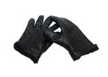 Black leather gloves isolated with clipping patch Royalty Free Stock Photography