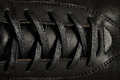 Black leather shoe Royalty Free Stock Photo