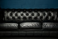 Black Leather Sofa Royalty Free Stock Photo