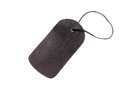 Black leather string tag Stock Photos