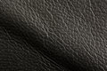Black leather texture background close up Royalty Free Stock Images
