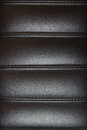 Black leather texture from chair cusion executive office in Royalty Free Stock Photos