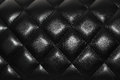 Black leather texture chanel bag lamb skin close up picture Royalty Free Stock Image