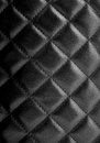 Black leather texture upholstery with great detail Royalty Free Stock Photos