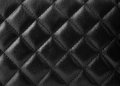 Black leather upholstery texture with great detail for background Royalty Free Stock Photos