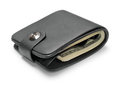 Black leather wallet. Royalty Free Stock Images