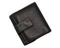 Black leather wallet a isolated Stock Photos