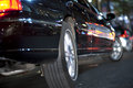 Black limo Royalty Free Stock Photo