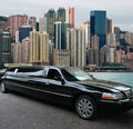 Black limousine in Hong Kong Royalty Free Stock Photo