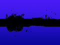 Black line background means painting blotches and blue meaning Royalty Free Stock Photo