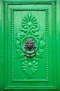 Black Lion Head Door Knocker Royalty Free Stock Photo