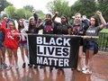 Black Lives Matter at the Rally at Lafeyette Park Royalty Free Stock Photo