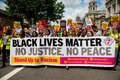 Black Lives Matter / Stand Up Racism Protest March Royalty Free Stock Photo