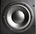 Black loudspeaker closeup bass studio shot Royalty Free Stock Images