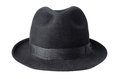 Black male felt hat isolated on white background Stock Image
