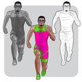 Black male sprinter
