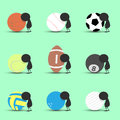 Black man character cartoon sad and recline to sports ball with green background. Flat graphic. logo design. sports cartoon. sport