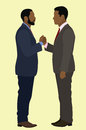Black man handshake two african american men shaking hands Royalty Free Stock Images