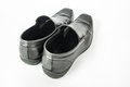 The black man s shoes back isolated on white background Royalty Free Stock Photo