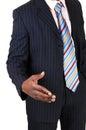 Black man shaking hand. Royalty Free Stock Photo